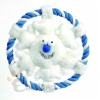 Cotton rope frisbee with plush toy