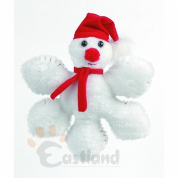 Soft chenille toy, snowflake shaped