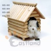 Wooden dog house, easily assembled