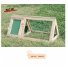 Wooden triangular hutch , collapsible