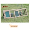 Wooden triangular hutch, collapsible
