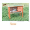 wooden rabbit hutch