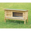 Wooden rabbit hutch, natural
